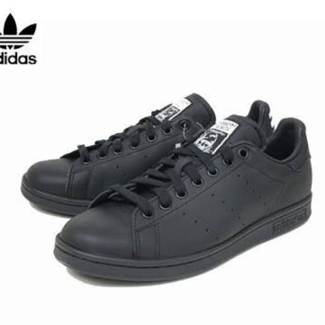 2faf1a20e90 adidas Consortium x Pharrell Williams Stan Smith Solid Black Size UK ...