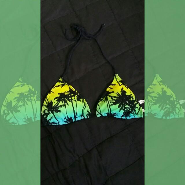Aeropostale Palm Tree Bikini Top
