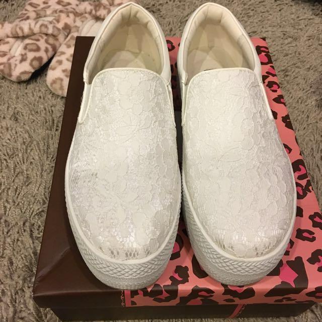 Ann's厚底蕾絲休閒鞋