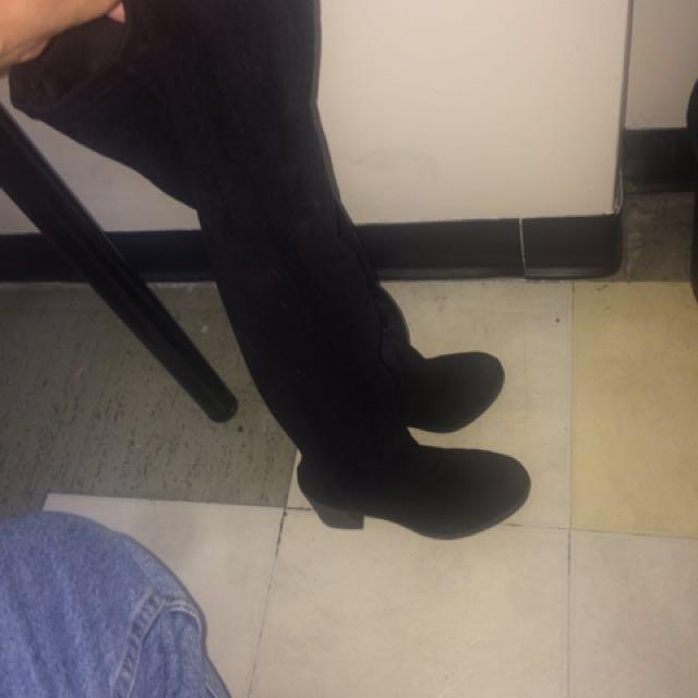 ASOS size 6 Womens Knee High Boots, 3-Inch Heel