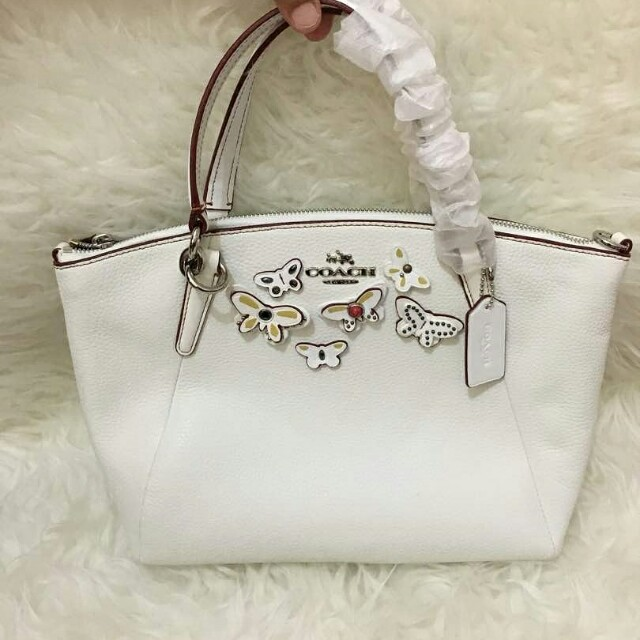 AUTHENTIC COACH SMALL KELSEY IN LEATHER WITH BUTTERFLY