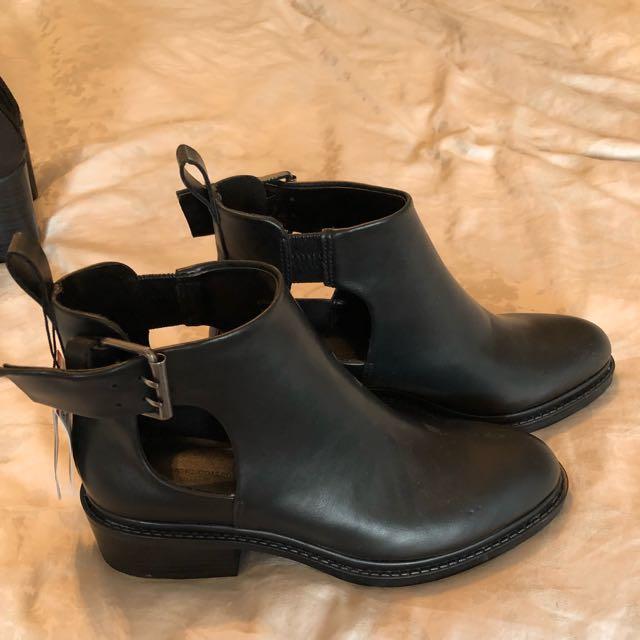 Black Zara Booties S: 7