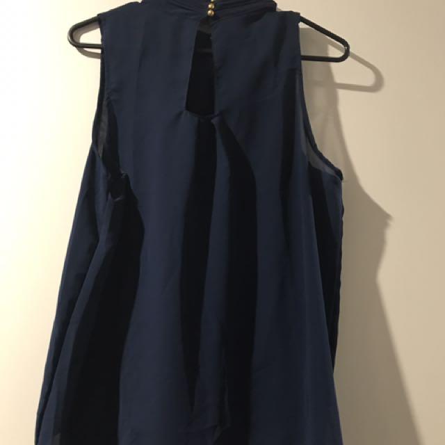 Blue Chiffon Shirt