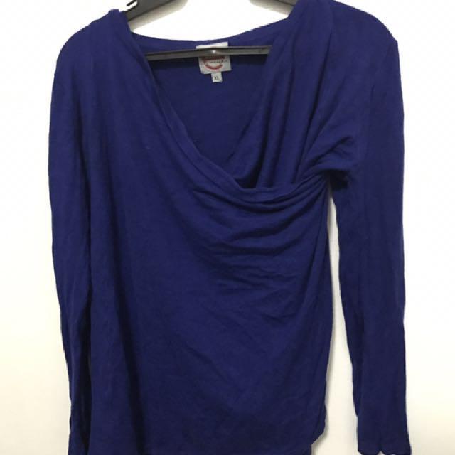 Blue Stylish Cardigan Blouse