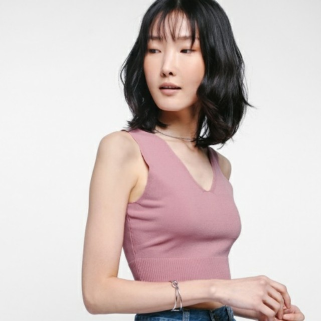 BNWT Love Bonito Thorali Knit Crop TOP (Dusty Pink)