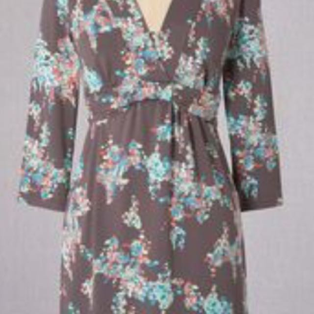 Boden floral jersey dress size 4 pewter