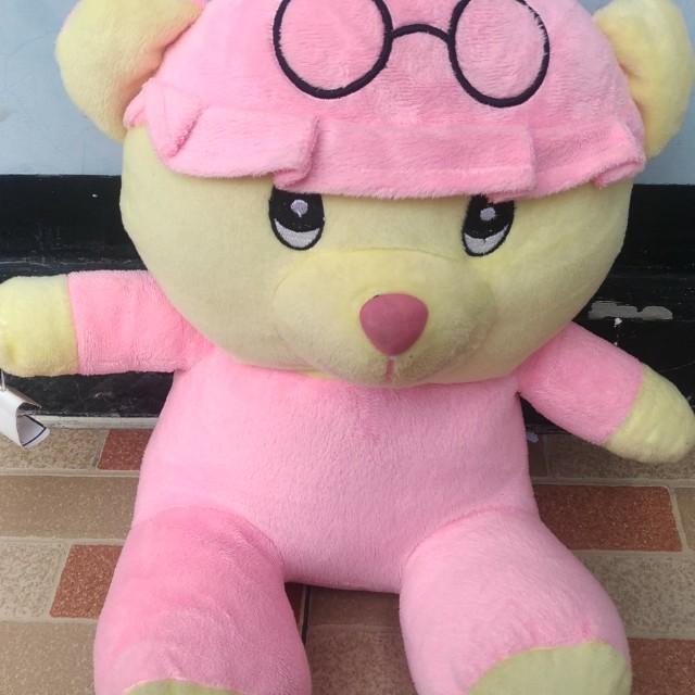 Boneka Sit Bear Topi