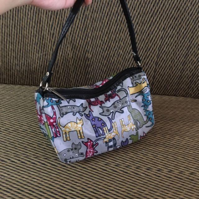 Cat Nylon shoulder bag