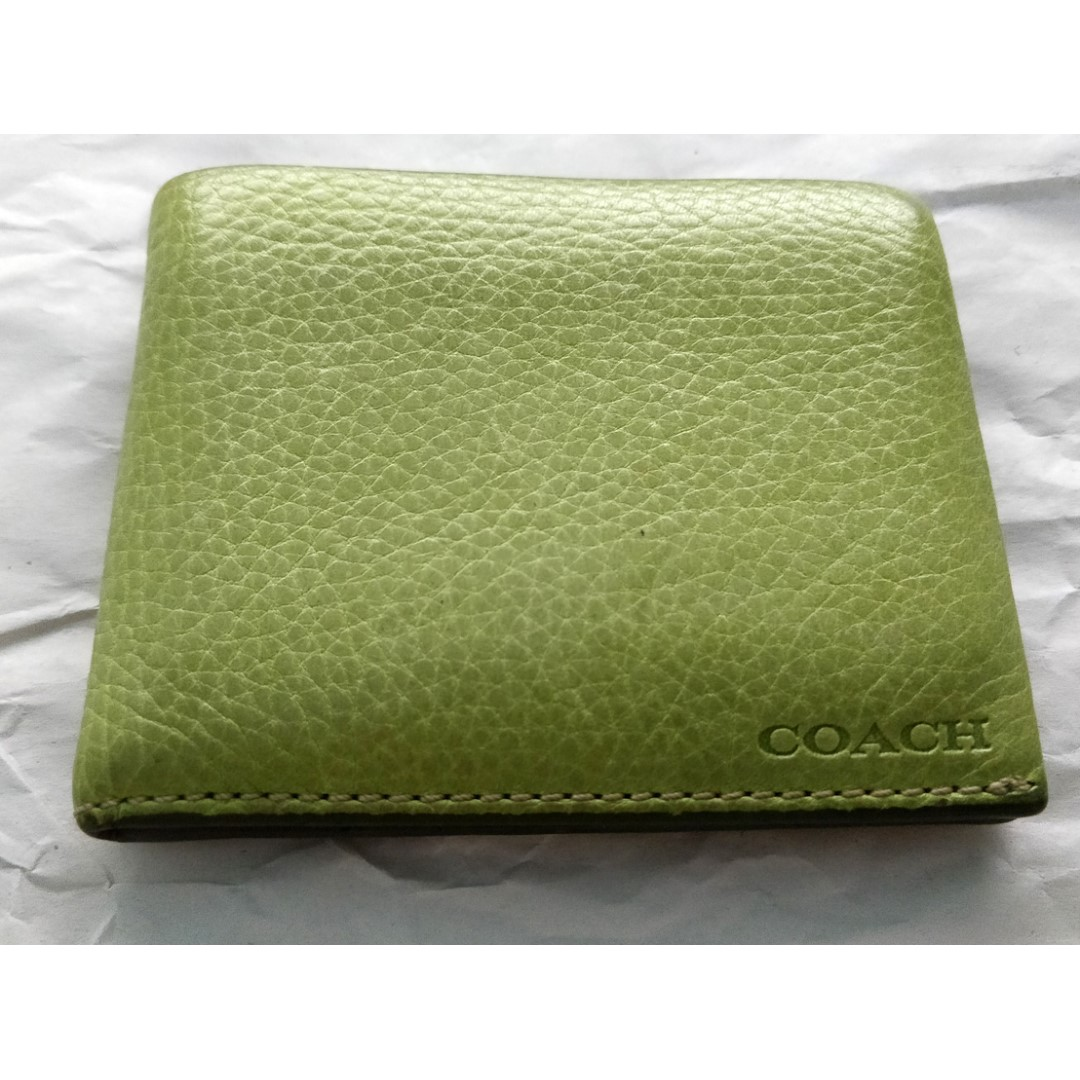 214d9a70 Coach men wallet in green, buffalo leather, Made In India.