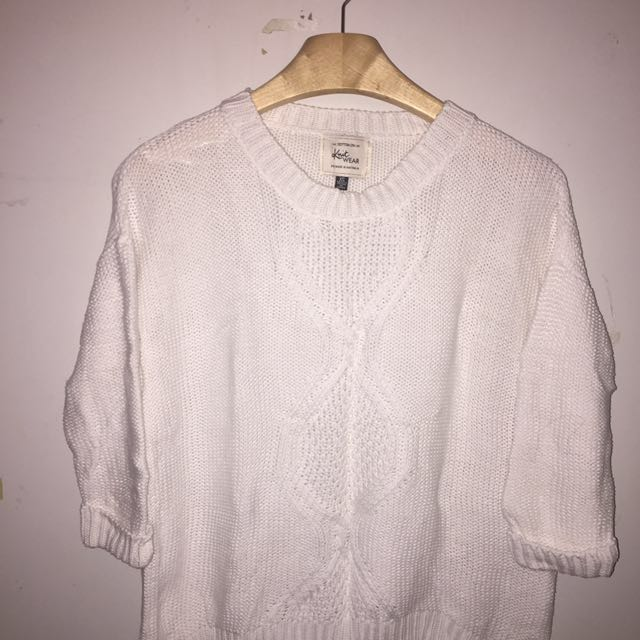 Cotton on loosely pleated sweater