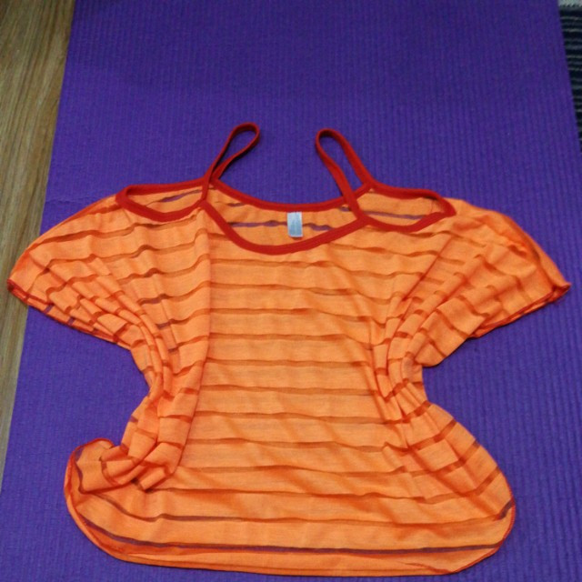 Cover up blouse orange