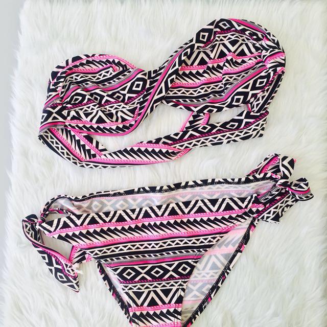 Cute Aztec Two- Way pink black Bikini from Bangkok