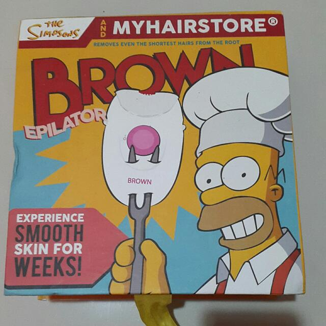 Epilator Brown From MyHairStore Edisi The Simpsons