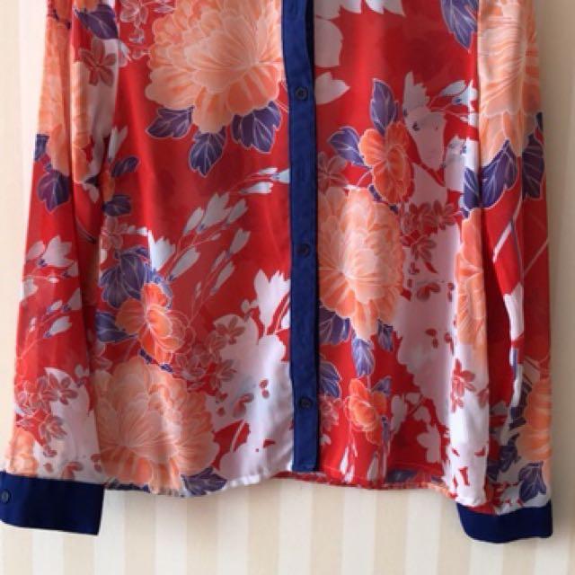 F21 flower shirt