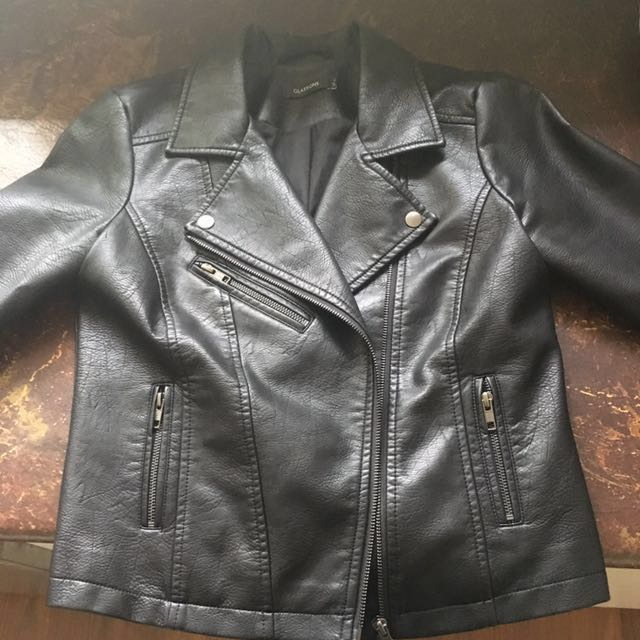 FAUX leather jacket size 8