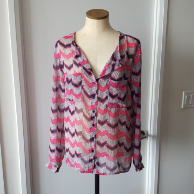 Forever 21 Patterned Blouse