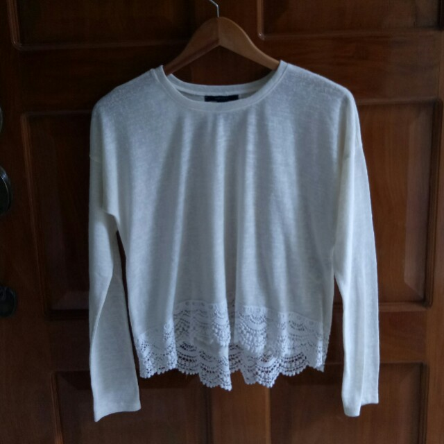 Forever 21 Pullover with Lace Details