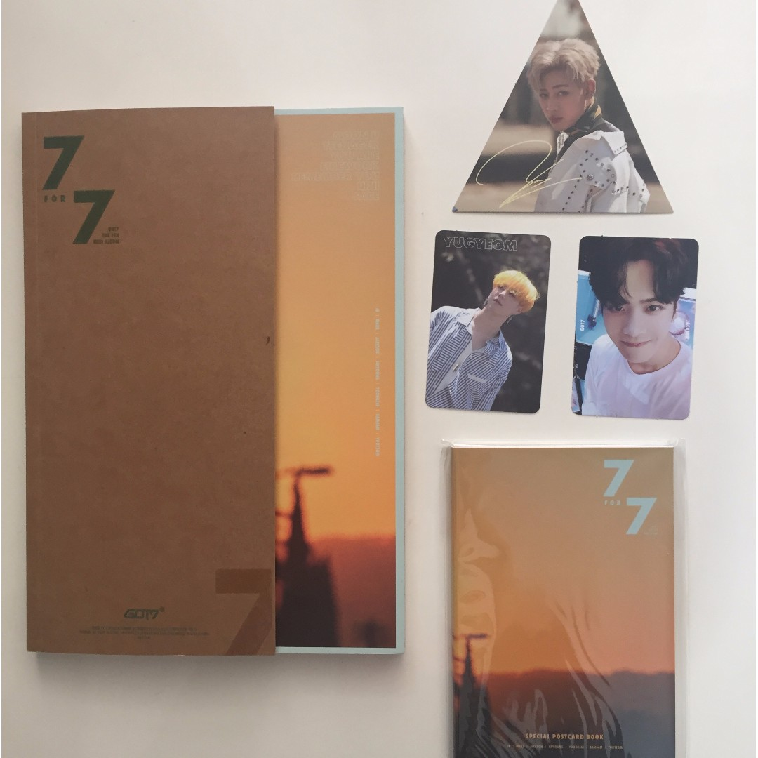 Got7 7 for 7 album + photocards + preorder postcard book