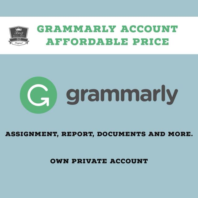 Grammarly Own Private Account