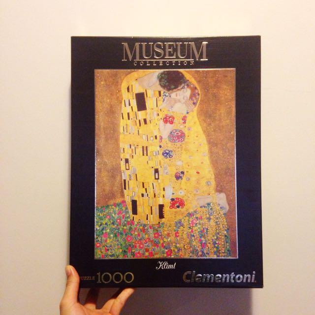 Gustav Klimt's The Kiss 1000 piece jigsaw puzzle