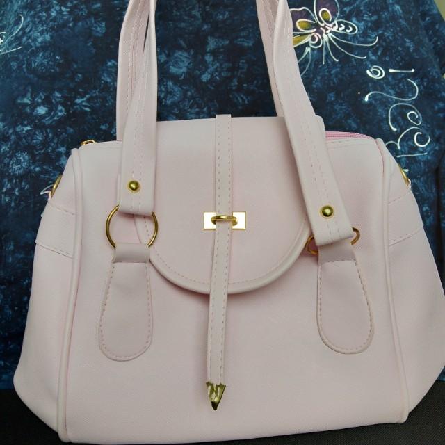 Hand bag / sling bag / tas pink