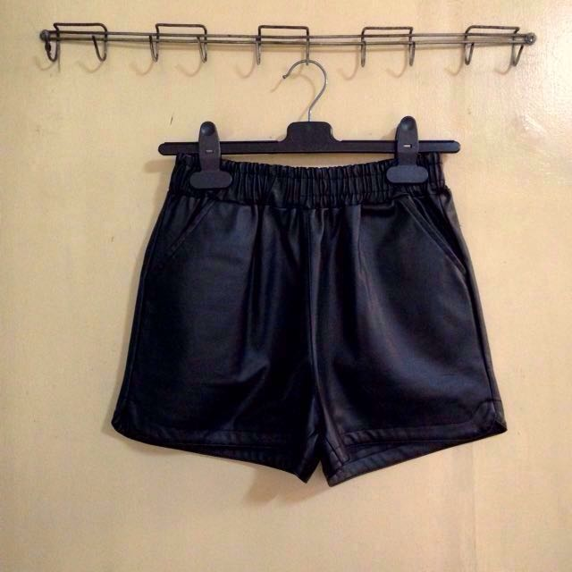 (H&M) Leather Shorts