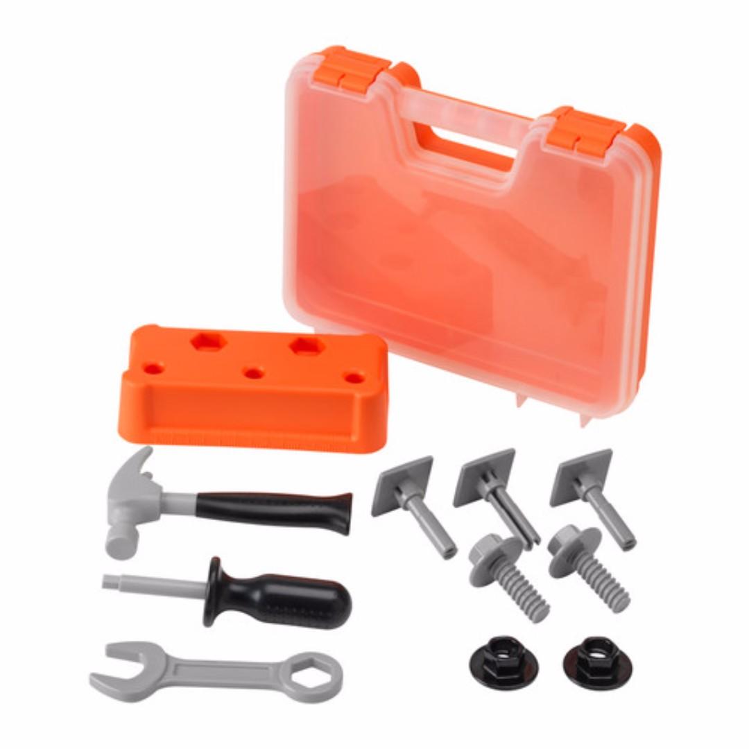 IKEA DUKTIG Mainan anak satu set kotak peralatan (18bln keatas)