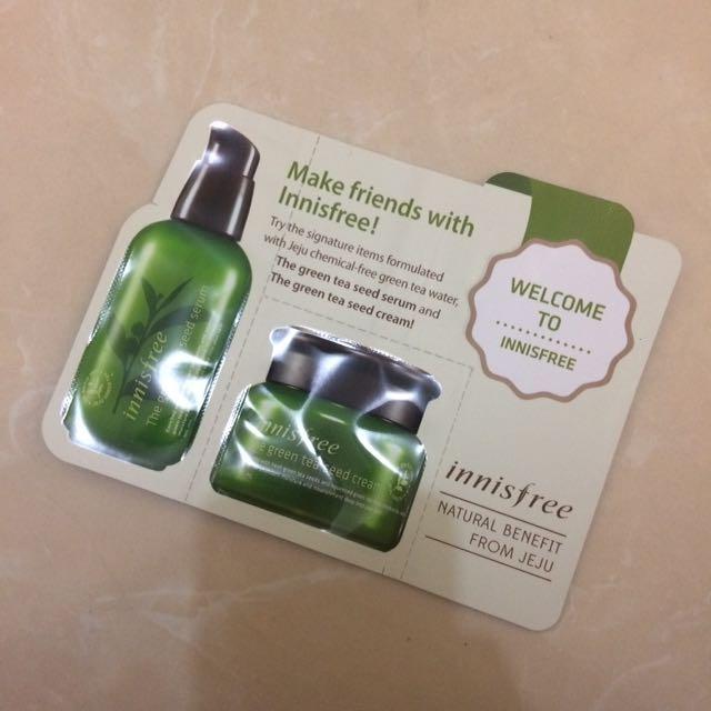 Innisfree Green Tea Seed Leaflet Pouch (Trial Kit)