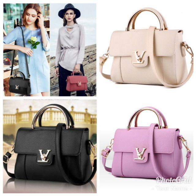 👜INSPIREE HANDBAG LADIES BEG TANGAN FASHION PU SLING BAG + ... 6f883b8055