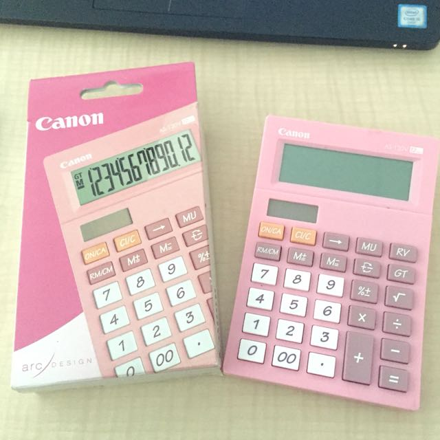 Kalkulator calculator casio pink AS-120V 12 digit