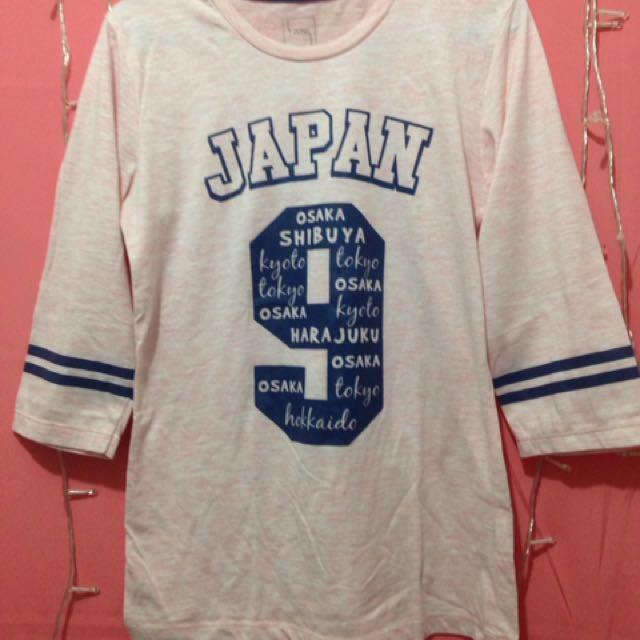 Kaos Cantik Japan 9 Peach T Zone T Shirt