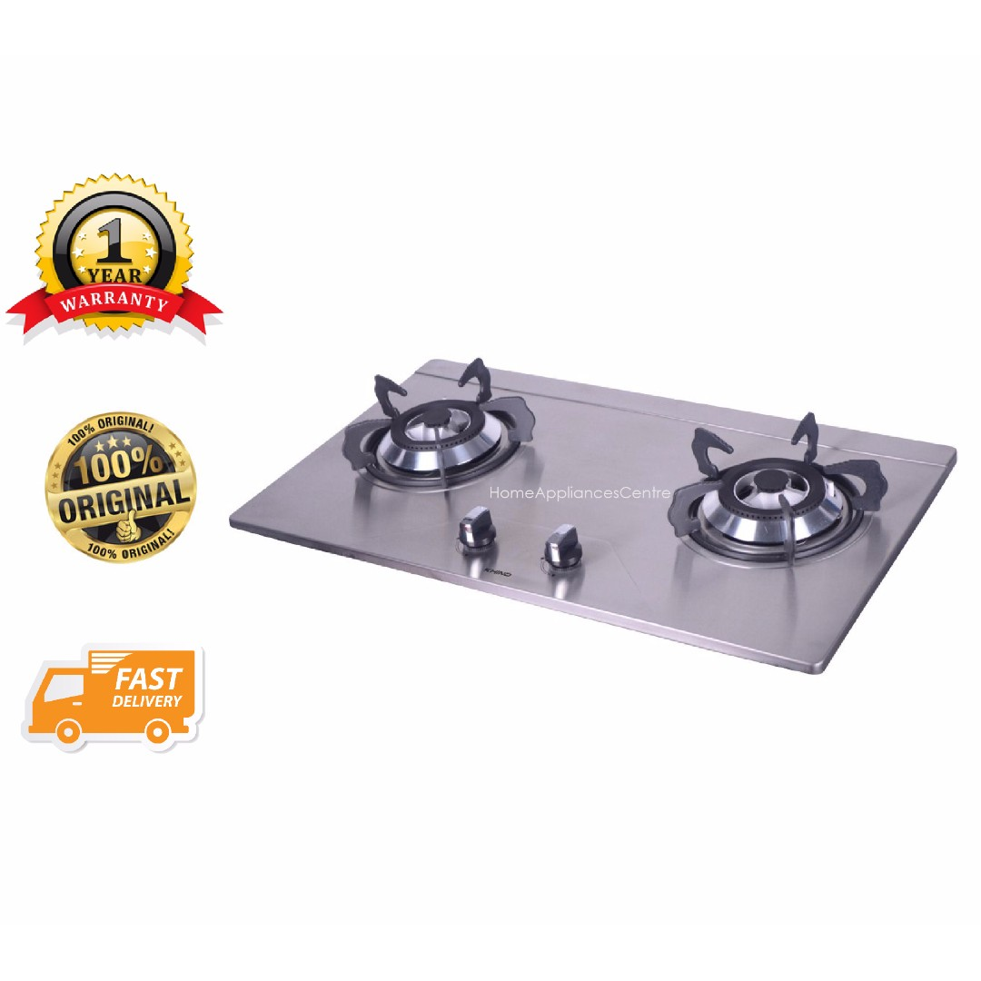 Khind 2 Burner Stainless Steel Gas Stove Hb802s Kitchen Liances On Carou