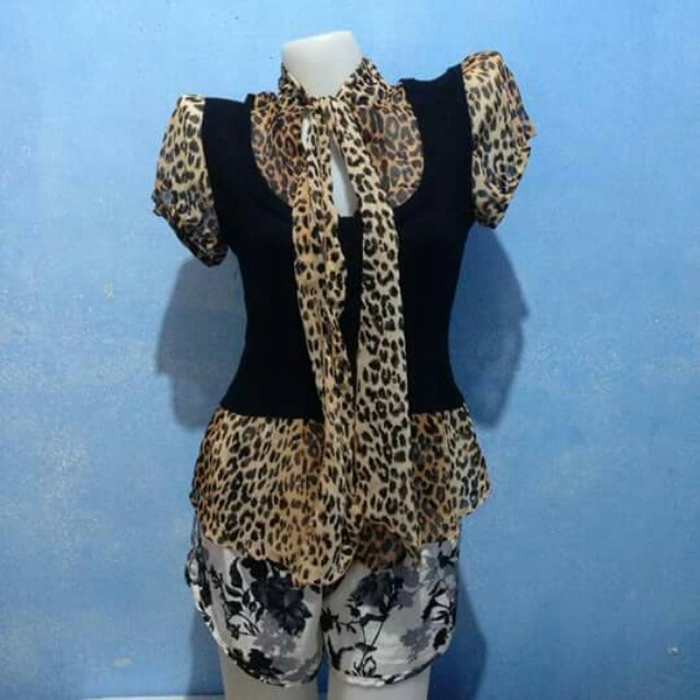 Leoparde Ribbed Top