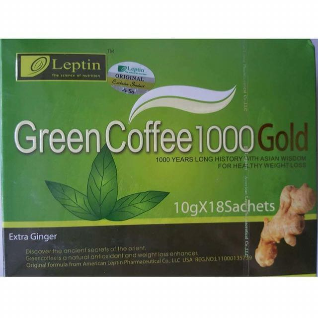 Leptin Green Coffee 1000 Gold Drink, Health & Beauty, Bath & Body on Carousell