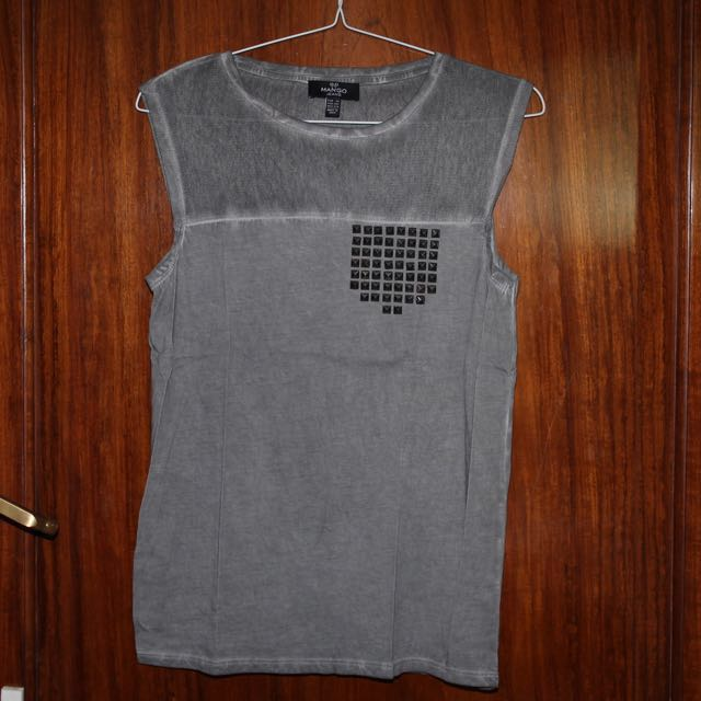 MANGO Muscle Tee with Studs