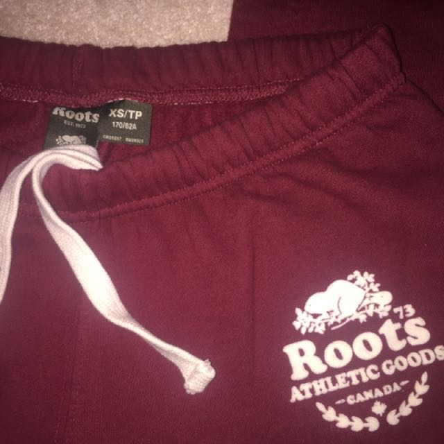 Maroon roots sweatpants