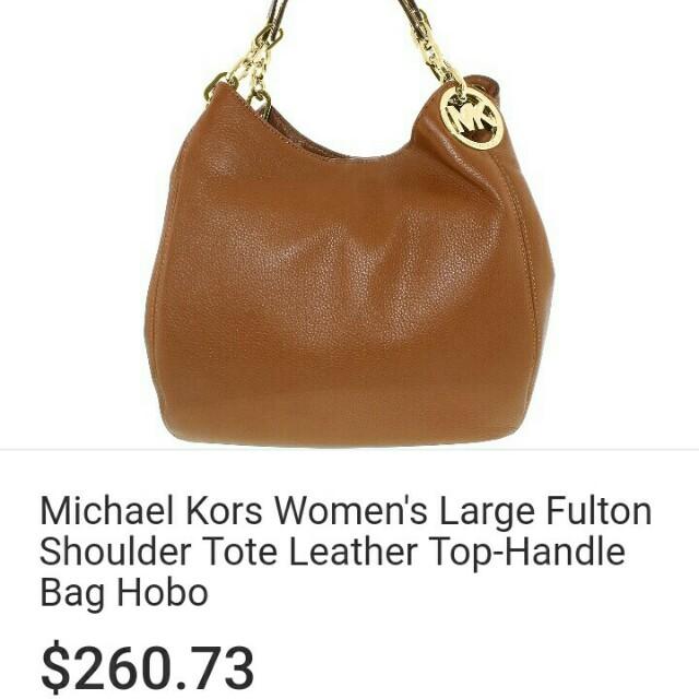 Michael Kors Fulton Large Shoulder Tote Brown