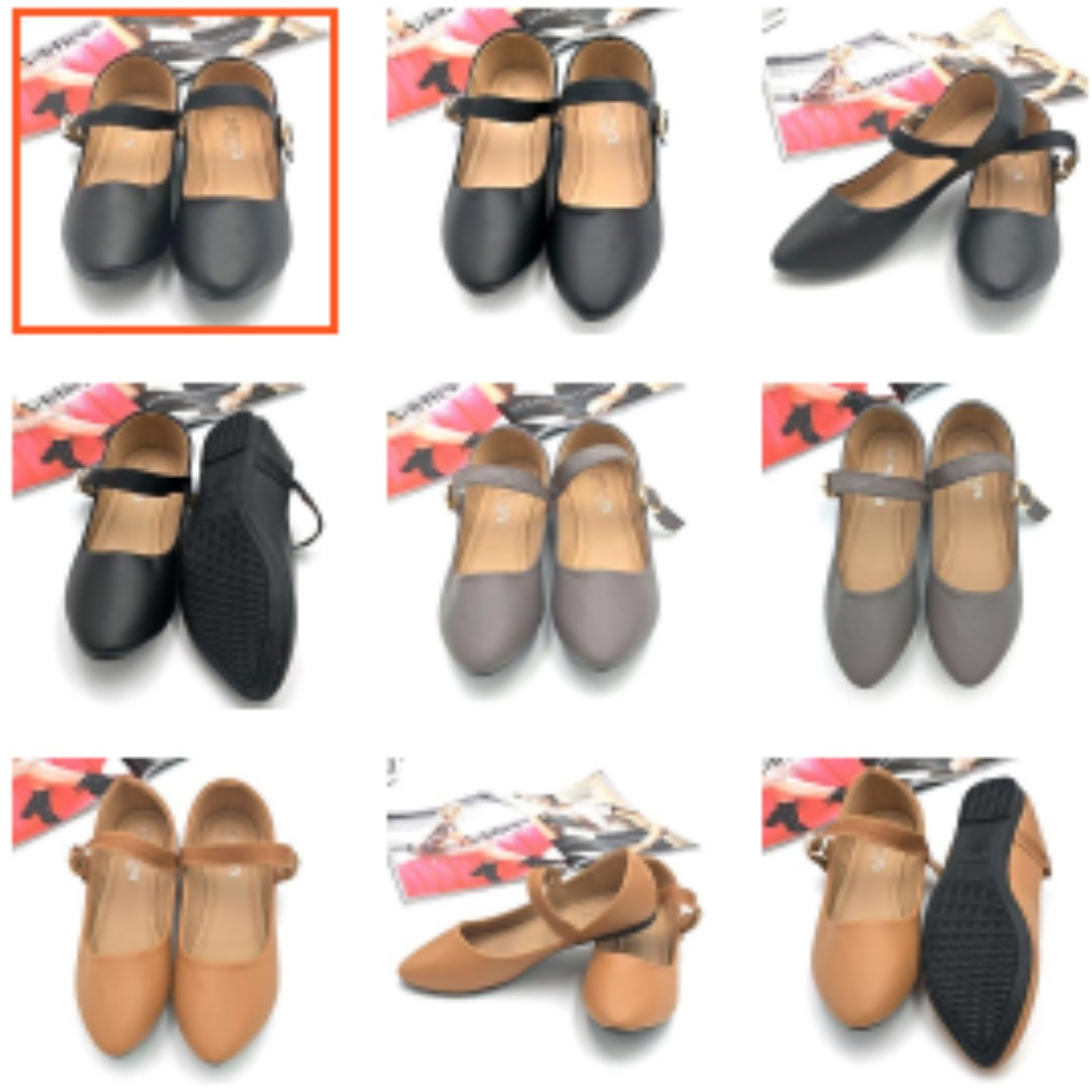 MNA Ladies Doll Shoes With Strap 772-27