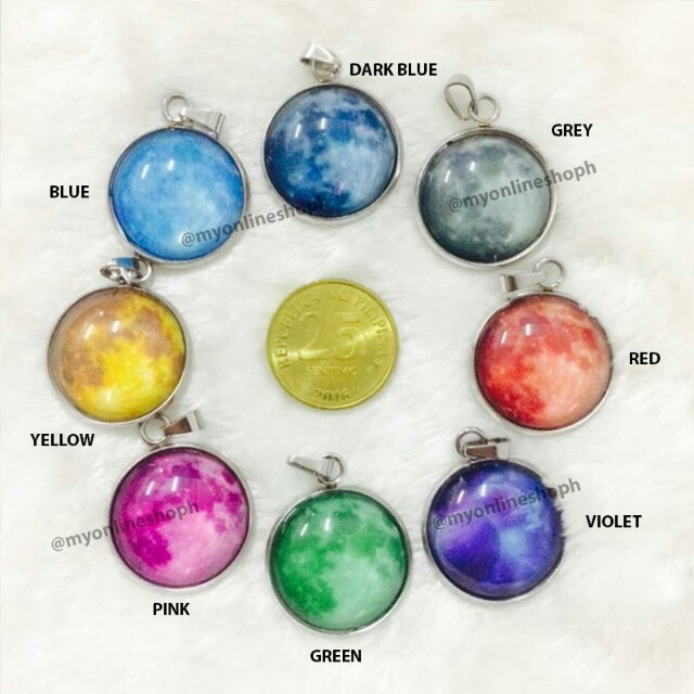 Moon Constellations Zodiac Sign Starry Night Necklace