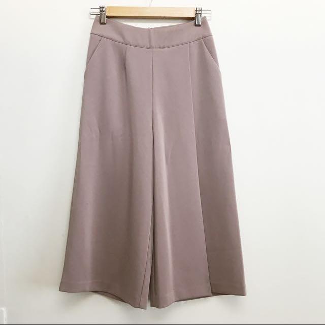 Mooncat全新自訂款不對稱摺設計八分褲