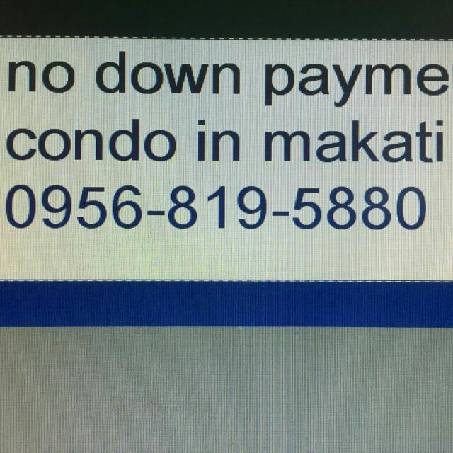 No down payment condo In makati