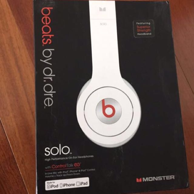 Original Beats Dr Dre Solo White