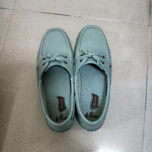 orware 牛皮帆船鞋