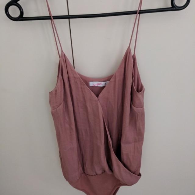 Peach coloured bodysuit