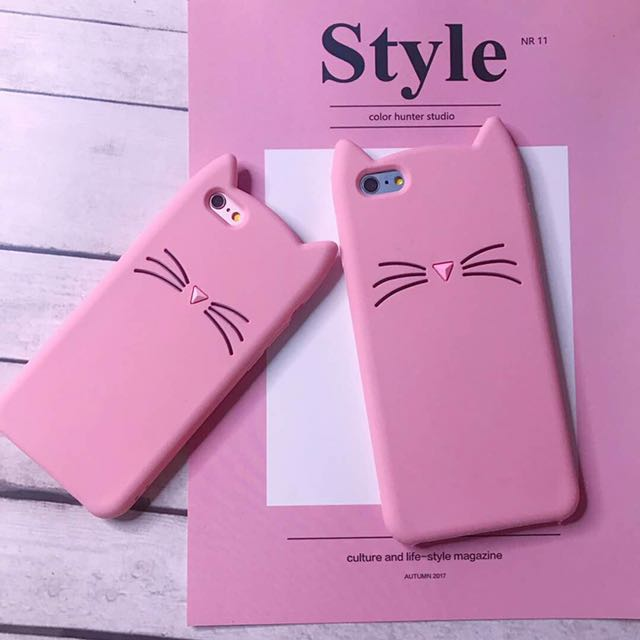 Pink Kitty silicon case