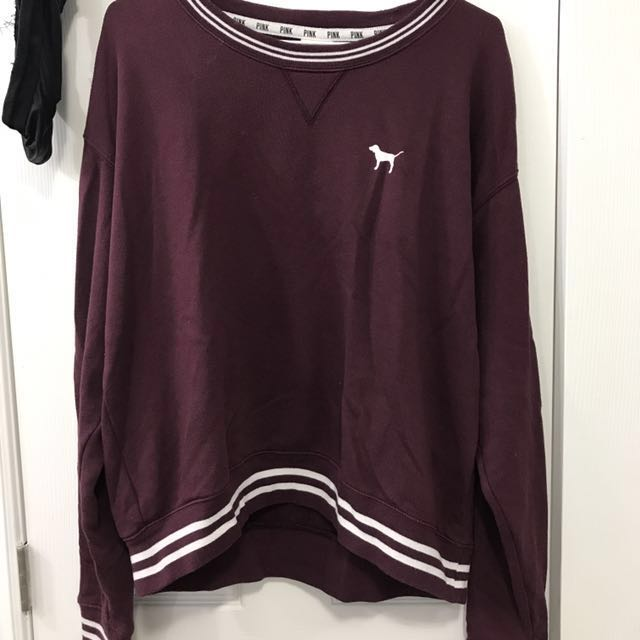 PINK pullover crewneck sweatshirt