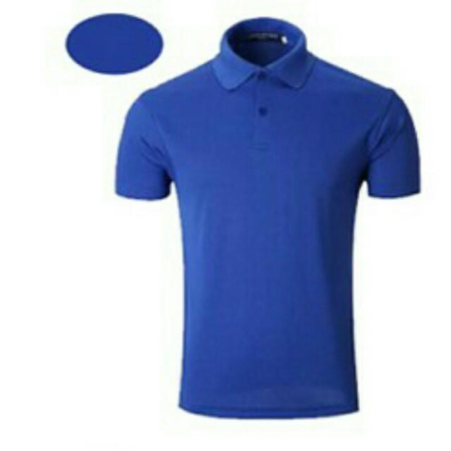 寶藍色polo衫
