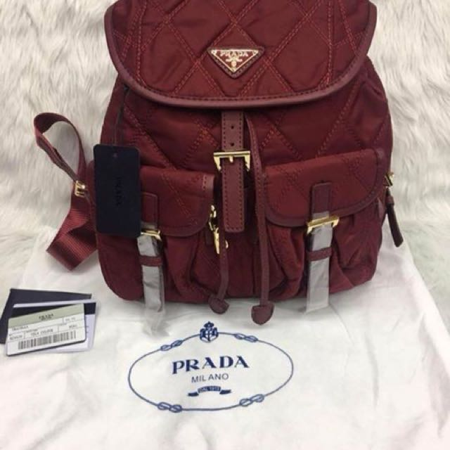 low price prada backpack preloved womens fashion bags wallets on carousell  8a602 cd56c 5fc324d4775c9