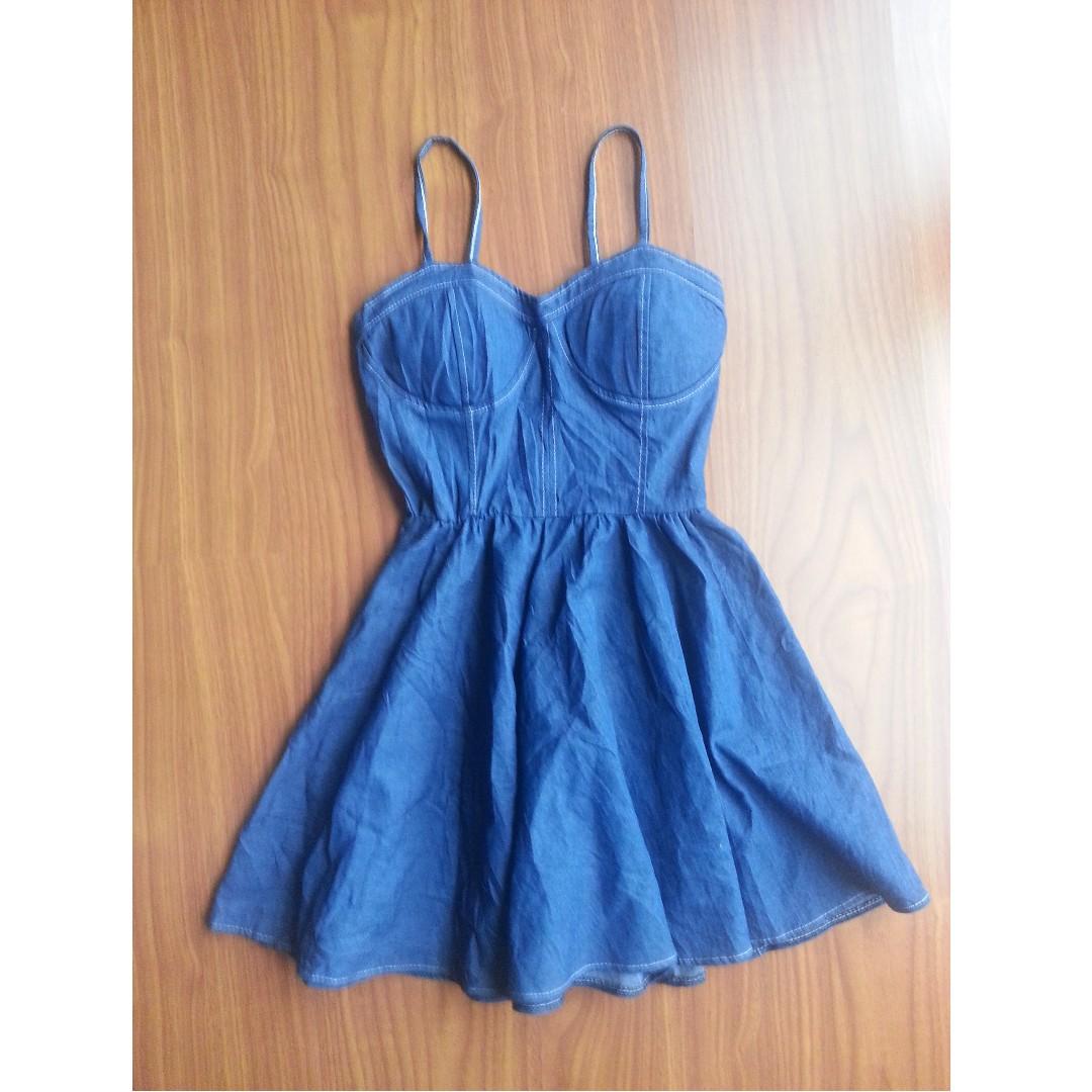 REPRICED Denim Bustier Dress