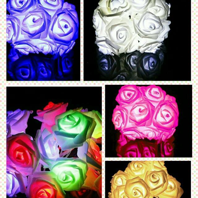 ROSE LED STRING FLOWER